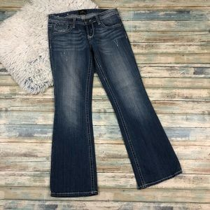 Express Jeans - ReRock For Express Bootcut Jeans Size 2 Short
